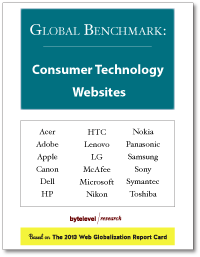 Global Benchmark: Consumer Technology Websites