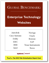 Global Benchmark: Enterprise Technology Websites