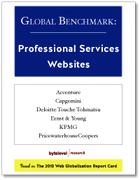 Global Benchmark: Professional Services Websites