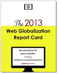 The 2013 Web Globalization Report Card