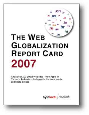 Web Globalization Report Card image. All rights acknowledged.